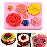 Nesee Cake Mold, 3D Silicone Chocolate Cake Fondant Mould Baking Sugar craft Decorating Mold Tool Perfect for Decorating Cake, Fondant, Paste, Sugar, Cookie