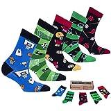 Socks n Socks-Boy's 5-pair Fun Cool Cotton Colorful