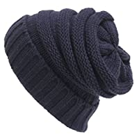 Abbyling68 Trendy Warm Chunky Soft Stretch Cable Knit Slouchy Beanie