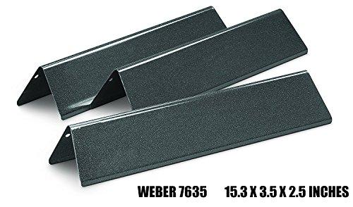 X 200 Series (Edagemaster Replacement BBQ Gas Grills Porcelain-Enameled Steel Flavorizer Bars for Weber Spirit 200 Series( (Set of 3/15.3