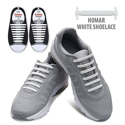 Homar No Tie Shoelaces for Kids and Adults - Best in Sports Fan Shoelaces - Waterproof Silicon Flat Elastic Athletic