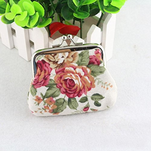 White Hasp Retro SMTSMT Vintage Women Purse Flower Small Wallet 8A87Pqgxw