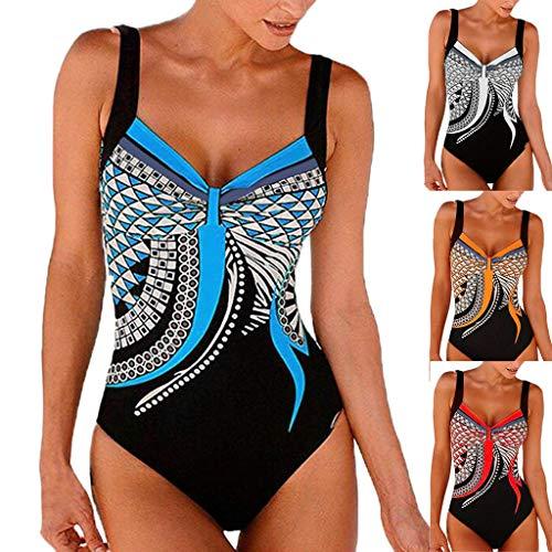 Beach 1 Bain Manadlian Fleur Piece Jumpsuit Slip Eté Swimwear Bikini Avec Totem De Bleu Maillot Sportif Impression PqdqURx