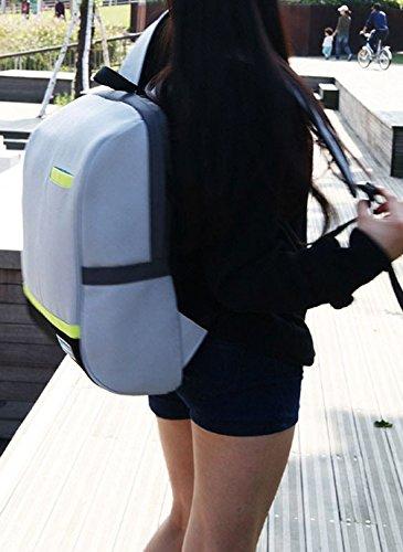 Keshi Cool Schulrucksäcke/Rucksack Damen/Mädchen Vintage Schule Rucksäcke mit Moderner Streifen für Teens Jungen Studenten Beige jleAFQj3k