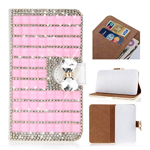 Scheam Lenovo S5 Case Wallet Leather, Lenovo S5 Case with Card Holder and Kickstand, Lenovo S5 Wallet Case with Leather Cases, Leather Cases Case Case Compatible with Lenovo S5 Pink