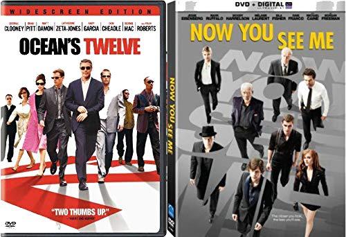 Huge Esemble Cast Two Movie Bundle - Now You Seem Me & Ocean's Twelve 2-DVD Bundle
