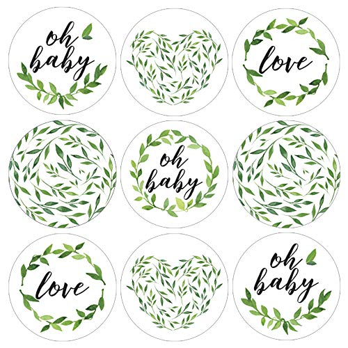 Greenery Baby Shower Favor Labels - 180 Stickers