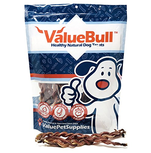 ValueBull USA Lamb Pizzle Twist Dog Chews, 8 Inch, 25 Count from ValueBull