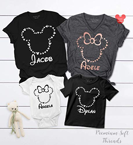 Minnie Mickie Mouse Shirts, Disney Trip Shirts, Family Matching Disneyland T-Shirts, Women's Disney Outfit ()