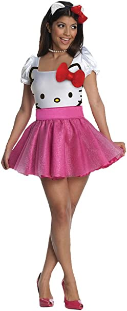 Amazon.com: Disfraz de Hello Kitty rosa para adulto Xs ...