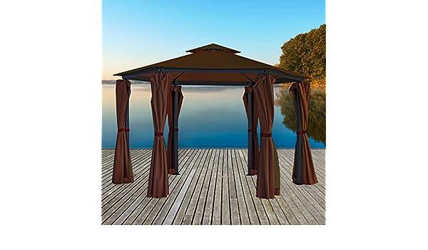 Carpa con Estructura metálica – Cenador 270 x 270 x 275 cm: Amazon.es: Jardín