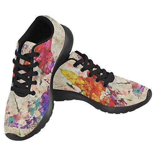 Interestprint Femmes Jogging Running Sneaker Léger Aller Facile À Pied Confort Décontracté Chaussures De Course Multi 28