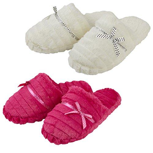 Forever Dreaming - Zapatillas de estar por casa para mujer Cream & Pink