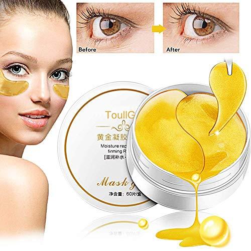 - Gold Eye Mask, Collagen Eye Mask, Gold Eye Pads Anti-aging Hyaluronic Acid Eye Patches for Anti Aging,Dark Circles and Puffiness, Anti Wrinkle, Moisturising,Whitening (Gold Eye Mask-30 Pairs)