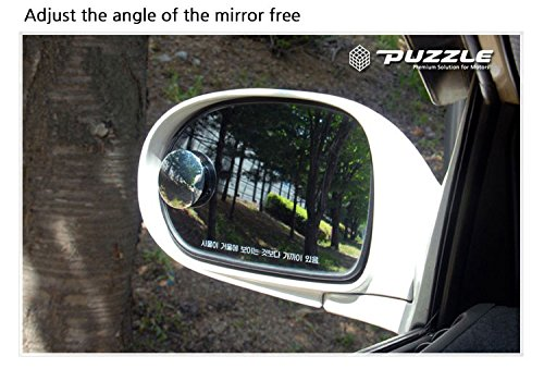GotoShop Puzzle Sl Lenze 2inch 2pcs Circle Mirror Blind Spot Rear Side View Rearview for Car Truck Accessories 50.8mm 2 2pice Set