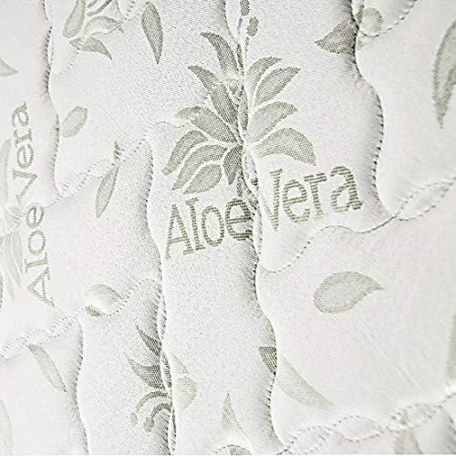 HOGAR24 Litera metálica con somieres + 2 colchones Aloe Vera + 2 Almohadas de Fibra de regalo-80x180cm