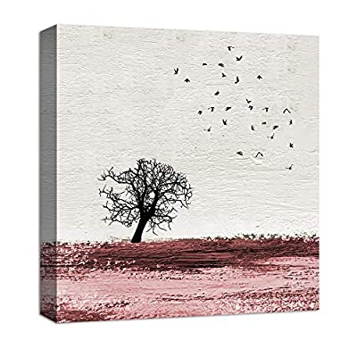 Abstract Blackground Tree Pop up Painting Artwork for Home Framed 12