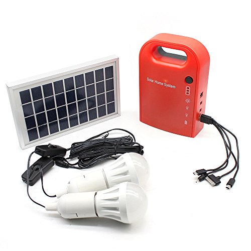 Solar Generator,Home Outdoor Lighting DC Solar Panels Charging Generator Portable Power System With Mobile Phone Charging Function