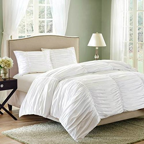 Ruched 3 piece Bedding Comforter Queen product image