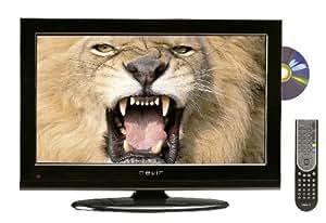 Nevir NVR-7502-22HDD-N - Televisión LED con lector DVD lateral, pantalla de 22 pulgadas, sintonizador DTD, Dolby digital plus, color negro