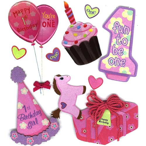 Jolee's Boutique Girl's 1st Birthday Stickers -
