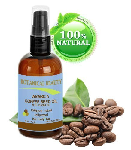 Arabica Coffee Seed Oil, 100% Pure/ Natural. For Face, Body and Hair. Wrinkle Reducer, Anti- Puffiness / Dark Circles, Anti Cellulite. 2 oz- 60 ml