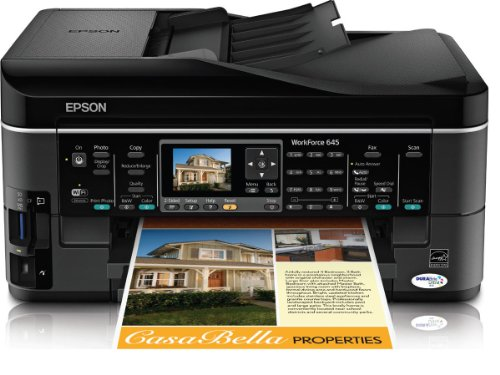 Epson WorkForce 645 Wireless All-in-One Color Inkjet Prin...