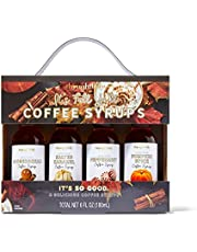 Modern Gourmet Foods, Fall Themed Coffee Syrups, Flavours Include Gingerbread, Salted Caramel, Peppermint and Pumpkin Spice, Pack of 4