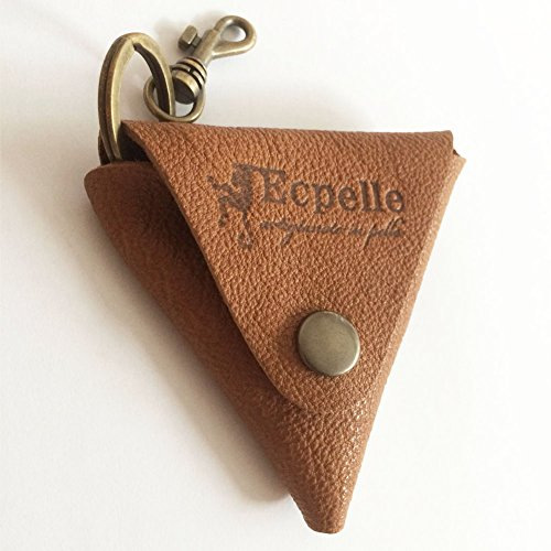 Leather Pocket Key Chain Keyholder Key Ring with Microfiber Cleaning Cloths for Eyeglasses,Camera Lens,Computer,Laptop,Tablet,Telescope,LCD Screen and Other Delicate Surfaces Cleaner by Ecpelle (Lcd Keychain Key Ring)