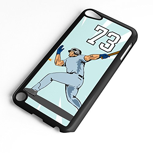 - iPod Touch Case Fits 6th Generation or 5th Generation Baseball #3300 Choose Any Player Jersey Number 73 in Black Plastic Customizable by TYD Designs