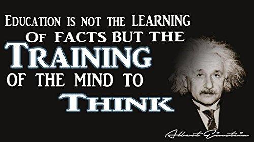 Albert Einstein Education Poster   12-Inches By 18-Inches   Inspirational Motivational Educational Classroom   JSC101