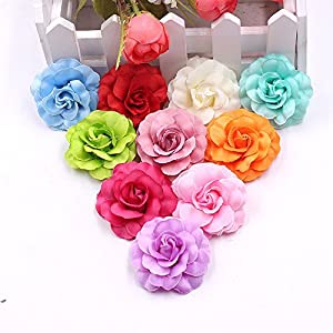 Flower Heads in Bulk Wholesale for Crafts Artificial Silk Mini Rose Fake Flower Head Wedding Home Decoration DIY Party Festival Decor Garland Scrapbook Gift Box Craft 30pcs/lot 51