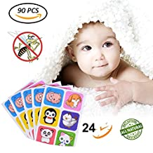 Mosquito Repellent Patch Stickers Keeps Insects Bugs Far Away Natural Non-Toxic Deet-Free Safe for Baby, Kids, Pets, and Adults Home, Camping, Travel Outdoors