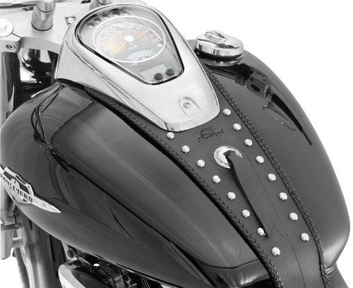 Mustang Motorcycle Seats Studded Tank Bibs for Harley Davidson 1996-2008 Kawasaki Drifter 4.2 ga - One Size