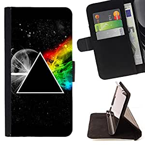 For Apple Iphone 6 PLUS 5.5 Triangle Secret Symbolics Universe Rainbow Beautiful Print Wallet Leather Case Cover With Credit Card Slots And Stand Function