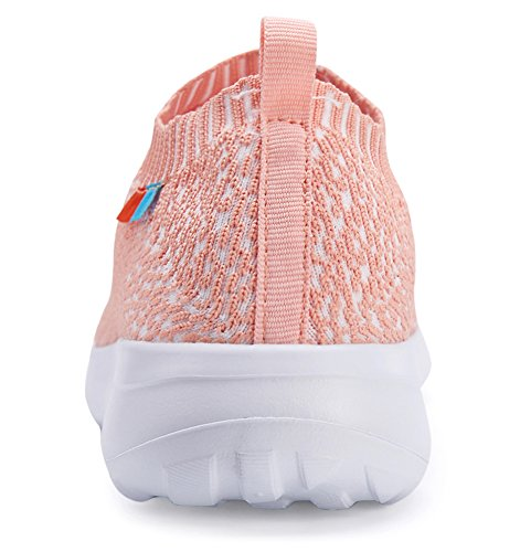 Walking Casual Breathable Flyknit Mesh amp;white Running Forucreate Pink Women's Shoes Lightweight I8qBwnBAEg