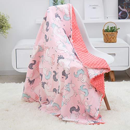 - Cabina home Baby Swaddle Blanket Muslin Cotton Stroller Blanket Shower Gift for Newborns Toddlers Nursery Crib Bedding, Pink Unicorn
