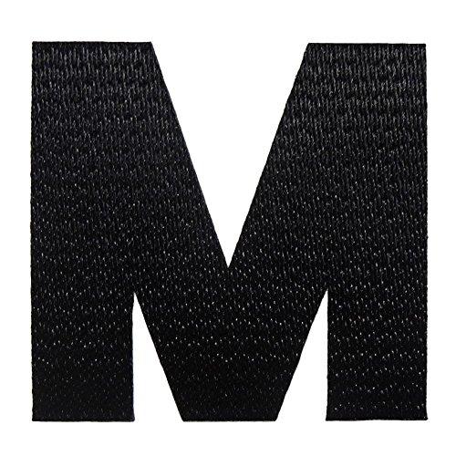 アルファベットワッペン 3cm ブラック M(エム)の商品画像