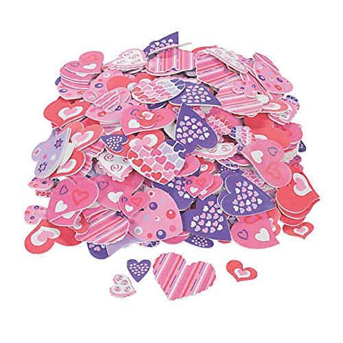 Fabulous Foam Self-Adhesive Valentine Heart Shapes, Set of 500 tkcheckoutnow