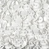 CHENGYIDA 1000-SET White KAM Snaps Plastic Buttons for Use with KAM Pliers Press Cloth Diapers Clothing Unpaper Towels Sewing