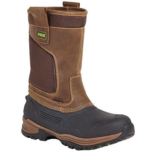 Apache Vestuário De Trabalho Industrial Tracção Castanho Segurança Montador Impermeáveis botas-uk 8 (ue 42)