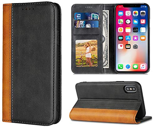iPhone XR Cases,iPhone 10r Case,Leather Wallet Case with Card Holder for Men/Women's iPhoneXR iPhone10r Back Phone Accessories Prime Deals Magnetic Flap Cover