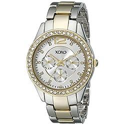 XOXO Women's XO5478 Rhinestone-Accented Two-Tone Watch