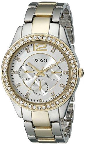 XOXO Women's XO5478 Rhinestone-Accented Two-Tone Watch Tt Gold Dial