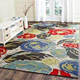 Safavieh Four Seasons Collection FRS437B Hand-Hooked Ivory Indoor/ Outdoor Area Rug (2'6' x 4')