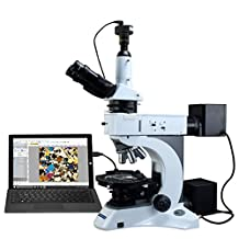 OMAX 50-1000X Digital Infinity Trinocular Polarizing Metallurgical Microscope with Kohler Transmitted and EPI Reflected Illumination System and 3.0MP USB Camera