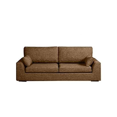 Home Spirit Sofá Convertible Tenerife Tejido Tweed marrón colchón Bultex 113 * 183 * 6 cm