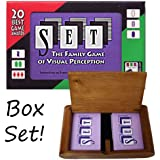 Set Playing Card Game in Wooden Protective Box