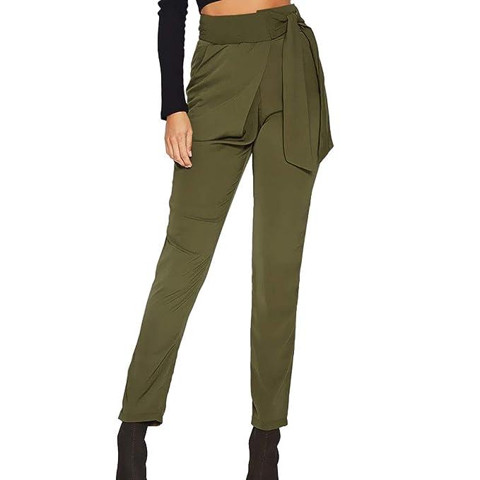 d1db27ad76 Pantalones harén para Mujer Otoño Invierno 2018 Moda PAOLIAN Casual  Pantalones Leggings Vestir Cintura Alta Señora Suelto Fiesta Pantalones  Ajustado ...