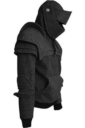 Amazon.com  BeautifulTimes Mens Arthur Medieval Knight Armor Hoodie ... 9da883c75fab